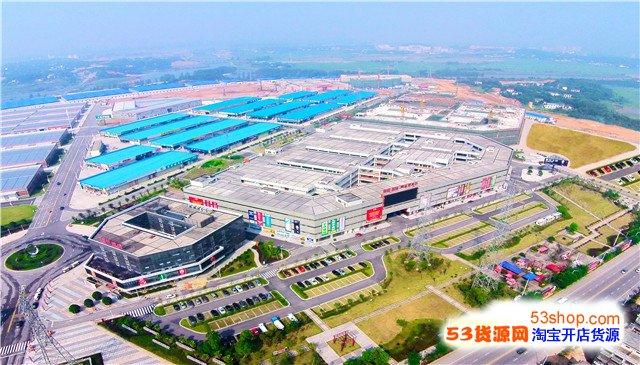 长沙湾田国际建材总部基地鸟瞰图